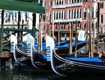 Venedig gondoler Royaltyfri Fotografi