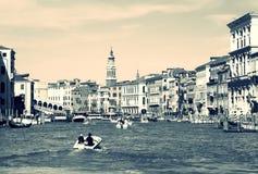 Venedig, großartiger Kanal Stockfotos