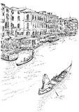 Venedig - großartiger Kanal lizenzfreies stockbild