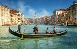 Venedig, großartiger Kanal Lizenzfreie Stockfotos