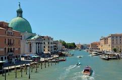 Venedig, großartiger Kanal Lizenzfreies Stockbild