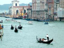 Venedig-großartiger Kanal Stockfotos