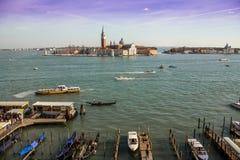 Venedig hamn Arkivfoto