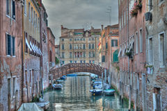 Venedig HDR Italien Fotografering för Bildbyråer
