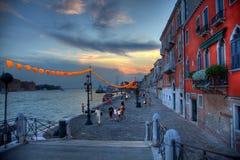 Venedig HDR Italien Arkivbild