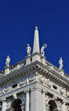Venedig helgonMark Library balustrad Royaltyfri Fotografi