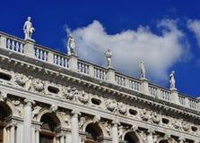 Venedig helgonMark Library balustrad Royaltyfria Bilder