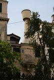 Venedig, historisches Haus und Kamin stockfotos