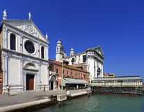 Venedig historiskt centrum, Veneto rigion, Italien - Santa Maria Arkivbilder