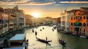 Venedig i aftonen fotografering för bildbyråer