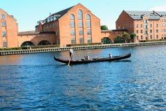 Venedig i Köpenhamnen, Danmark Gammal stad av Köpenhamnen Nyhavn di arkivbilder
