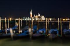 Venedig i natten Royaltyfri Fotografi