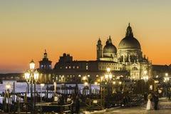 Venedig im Sonnenuntergang stockbild