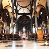 Venedig - innerhalb der schönen Kirche von St. Zachary Stockbild