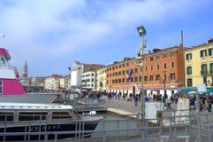 Venedig invallning Arkivfoto