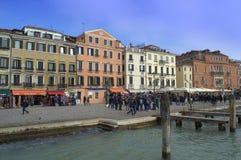 Venedig invallning Arkivbilder
