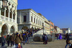 Venedig invallning Fotografering för Bildbyråer