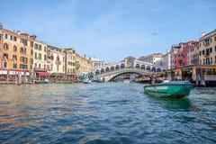 Venedig Italien är en populär turist- destination arkivfoto
