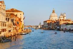 Venedig, Italien Ansicht des großartigen Kanals Lizenzfreies Stockfoto