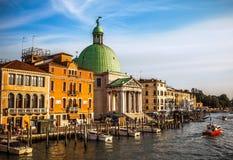 VENEDIG, ITALIEN - 20. AUGUST 2016: Ansicht über das Stadtbild von Grand Canal und von Inseln der venetianischen Lagune am 20. Au Stockfotografie