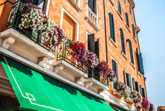 VENEDIG ITALIEN - AUGUSTI 21, 2016: Berömda arkitektoniska monument av den Lido ön på Augusti 21, 2016 i Venedig, Italien Royaltyfri Bild