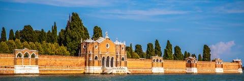 VENEDIG ITALIEN - AUGUSTI 19, 2016: Panoramautsikt på cityscapen av Grand Canal på Augusti 19, 2016 i Venedig, Italien Royaltyfri Fotografi