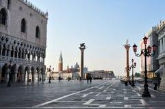 Venedig Italien Cityscape - Sts Mark fyrkant Arkivbilder