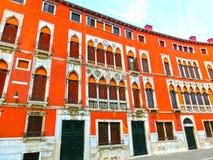 Venedig Italien - det gamla huset Arkivfoton