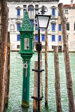 Venedig Italien, en traghetto Royaltyfri Bild
