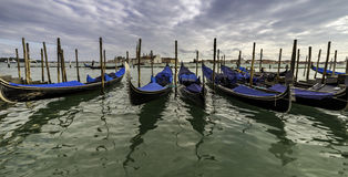 Venedig, Italien Erstaunliche Landschaft des Kanals Lizenzfreie Stockfotos