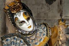 Venedig, Italien - 5. Februar 2018 - die Masken von Karneval 2018 Stockfotografie