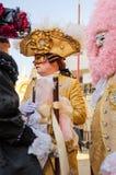 VENEDIG, ITALIEN - 27. FEBRUAR 2014: Karneval von Venedig Lizenzfreies Stockbild