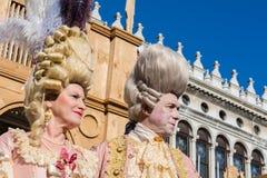 Venedig, Italien, am 6. Februar 2016: Karnevalsmasken in Venedig Der Karneval von Venedig ist ein jährliches Festival, das in Ven lizenzfreie stockfotografie