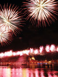 Venedig, Italien - Feuerwerke am Festival des Erlösers Lizenzfreies Stockfoto