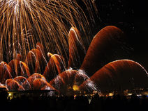 Venedig, Italien - Feuerwerke am Festival des Erlösers Lizenzfreie Stockbilder