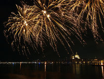 Venedig, Italien - Feuerwerke am Festival des Erlösers Stockfotografie