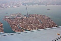 Venedig Italien, från luften arkivbilder