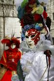 Venedig, Italien - Frauen für Karnevalsereignis Stockbild