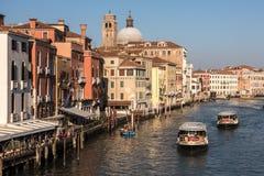 Venedig Italien - Gran Canale Arkivbild