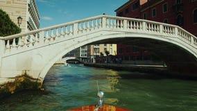 Venedig, Italien, im Juni 2017: Ausflug Grand Canal s in Venedig Schwimmen darunter stock footage