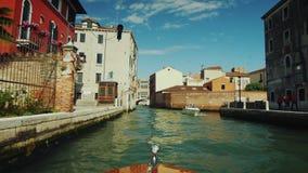 Venedig, Italien, im Juni 2017: Kreuzfahrt auf Grand Canal in Venedig Tourismus in Italien stock video