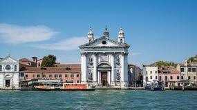 VENEDIG, ITALIEN: Am 20. Juni 2017: Santa Maria del Rosario ist eine dominikanische Kirche auf dem Giudecca-Kanal Lizenzfreie Stockfotografie