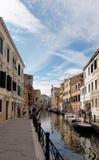 Venedig Italien kanal Royaltyfri Fotografi