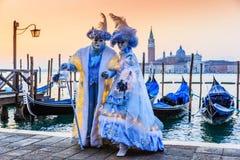 Venedig, Italien Karneval von Venedig Lizenzfreies Stockbild