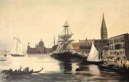 Venedig Italien målning Royaltyfri Bild