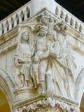 Venedig, Italien - 10. Mai 2014: Das Detail von St. Mark Basilica Lizenzfreie Stockfotografie