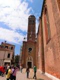 Venedig Italien - Maj 01, 2014: Kyrka av den Santa Maria Gloriosa deien Frari Arkivbild