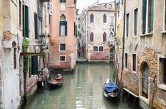 Venedig Italien - 20 Maj 2105: Sikt av Grand Canal och buildi Arkivfoto