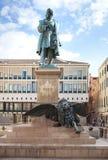 VENEDIG ITALIEN - OKTOBER, 08 2017: Monument av Daniele Manin royaltyfri foto