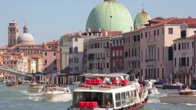 Venedig Italien, passera för fartyg lager videofilmer